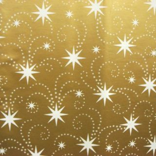 Gift Wrapping Paper Bulk Roll Gift Wrap Gold Background White Stars 50 Metres