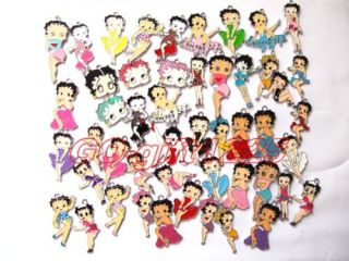 100 Pcs Betty Boop Mix Figures Phone Charm Figures Pendant