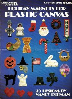 Plastic Canvas Pattern Booklet Holiday Magnets