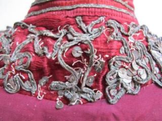 Antique Red Heavily Embroidered Gold Gilt Matador Bull Fighting Bolero Jacket