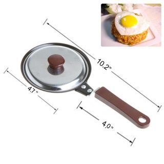Kitchen Heart Shaped Egg Fry Frying Pan Pancake Pot Non Stick Stainless Steel