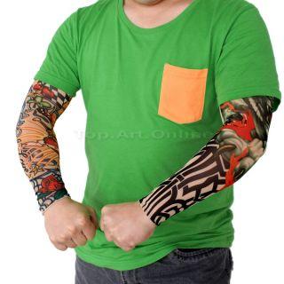79719c512e6 ... New 6pcs Fake Temporary Party Realistic Tatoo Slip on Tattoo Arm Covers  Sleeves ...