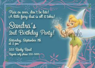 Disney's Tinkerbell Purple Birthday Invitations