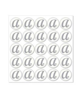 50 Monogram Rhinestone Epoxy Letter Sticker Wedding Personalized Favor