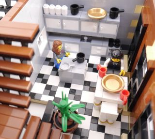 Custom Lego Modular Building NY Brownstone House 10182 10185 10197 10218 CC