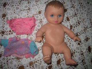 "10"" 1995 Lauer Water Babies Baby Doll w Outfit Brown Hair Blue Eyes"
