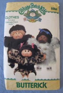 Butterick Cabbage Patch Kids Doll Clothes Clothing Sewing Pattern 6984 Uncut