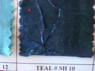 Teal Shimmer Crushed Fabric Wholesale by Roll 50''W
