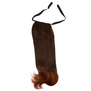 Beautiful Attractive Long Pear Curly Hair Tied Type Ponytail Black Light Brown
