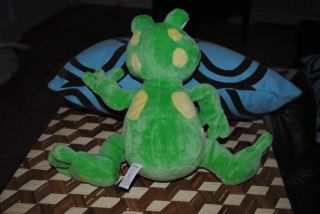 "Nuby Tickle Toes Laughing Giggle Frog Plush Stuffed Animal Lovey 12"" Luv N Care"
