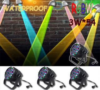 4pcs 54X3W LED RGBW Par 64 Waterproof IP65 Stage Light for DJ Club KTV Party