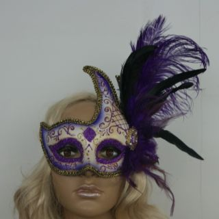 Venetian Party Mask Beautiful Feather Costume Masquerade Moon Goddess Eye Mask
