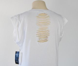 Fox Tattoo Graphics White Cap Sleeve Long Tee Shirt Woman'S
