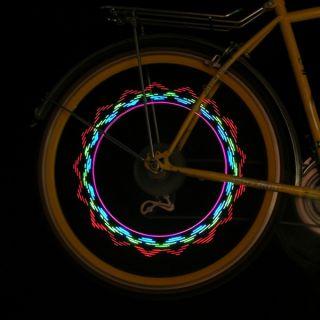 2 Pcs Bike Bicycle Car Motorcycle 5 LED Flash Tire Wheel Spoke Light 32 Patterns