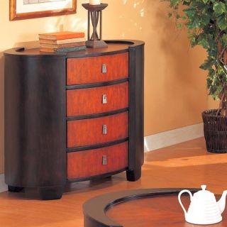 Mahogany Espresso Art Deco 3 PC Coffee Table Set