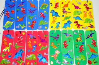 16 Dinosaur Dimensional Bookmarks Party Favors Handmade Dinosaurs Eggs