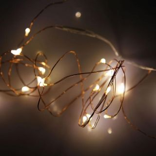 New 20LEDS Warm White Battery Operated Mini LED Copper Wire String Fairy Light