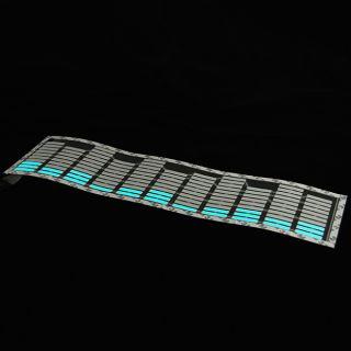 White Sticker Music Rhythm LED Flash Lamp Sound Activated Equalizer Universal