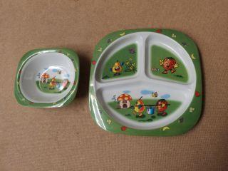 Melamine Ware Baby Kids Plate Bowl Multi Color Fruit Plastic
