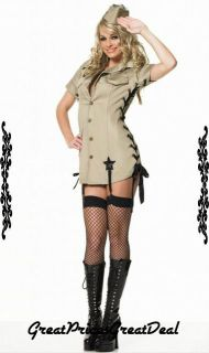 Costume Mash Leg Avenue 8066 2 Pcs Mash Army Girl Sexy Holiday Party Costume