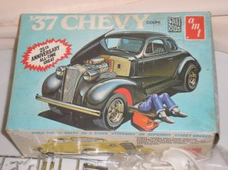 Vintage AMT 1937 Chevy Coupe A137 Street Rod Series Model Car Kit