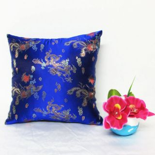 Royal Blue Dragon Chinese Brocade Cushion Cover Made to Order s to L BRCC 170