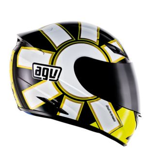 Agv K3 Gothic Black Full Face Race Touring City Motorcycle Helmet Yellow White