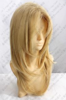 Guilty Crown Blonde Yellow Gold Long Costume Cosplay Wig coser Party Day Hair