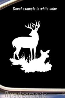 Deer Family Whitetail Deer Hunting Decal Sticker DF 007