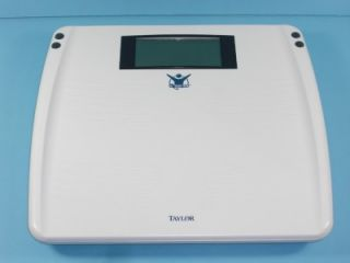 Taylor Electronic Calmax 7206BL Biggest Loser White Bathroom Scale