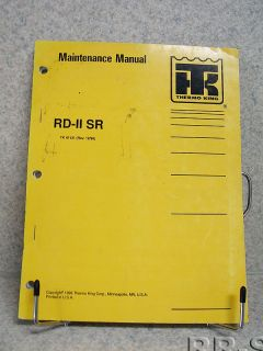 Thermo King RD II SR AC Heat X426 Maintenance Manual