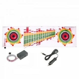 90x25cm Car Sticker Music Rhythm LED Flash Light Lamp Sound Activated Equalizer