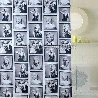Gray Feminine Sexy Girl Picture Design Bathroom Fabric Shower Curtain YS178 U