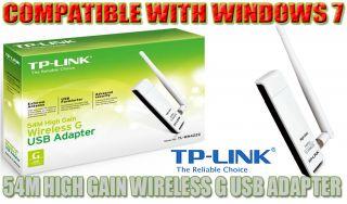 High Gain Extended Range 54g Wireless WiFi USB Adapter