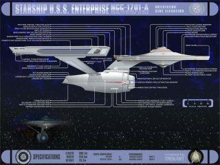 Star Trek VI USS Enterprise Dinner Plate NCC1701 A by Pfaltzgraff