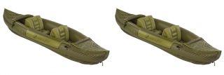 New 2 Sevylor Tahiti Two Person Hunting Fishing Inflatable Kayak Boat Rafts
