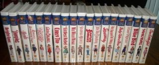 Lot of 19 Shirley Temple 20th Century Fox Family Feature VHS Movies Color New