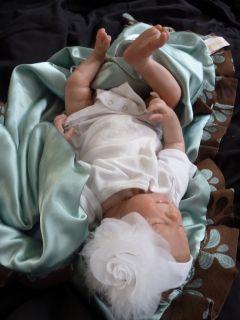 Reborn Baby Girl Crystal Sculpt Denise Pratt Art Doll So Sweet Lil' Beans