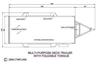 Trailer Plans Flatbed Tandem Axle Trailer