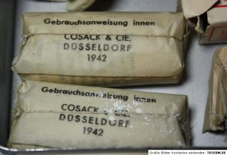 WWII German Wehrmacht First Aid Kit Tin incl 1942 Contens Field Post Packet
