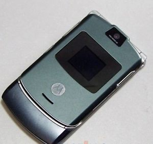 Motorola RAZR V3 Quad Band Camera Video GSM Flip Phone T Mobile Grey B Stock