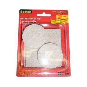 3M Scotch Self Stick Floor Care Furniture Pads Lot of 4