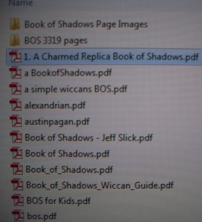 8 GB Flash Drive Charmed Book of Shadows Pages Wiccan Witchcraft eBooks