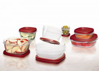 New Rubbermaid 24 Piece Set Sizes Fit Kitchen Storage Containers Food and Snacks