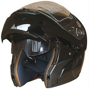 Motorcycle Helmet Full Face Dual Visor Flip Up Internal Sunglass Helmet 618 Blk