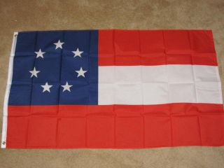 3x5 First 1st Confederate Flag Stars and Bars Rebel F11