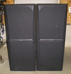 Pair Kenwood JL 504 8OHMS 140WATTS 140W 3 Way Floor Standing Speakers