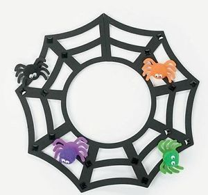 1 Spiderweb Necklace Foam Craft Kit Halloween Spider