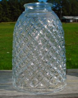 Vintage Diamond Cut Crystal Lamp Shade Globe Chandelier Wall Sconce etc Look