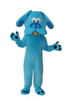 Blue Dog Puppy Cartoon Mascot Costume Suit Adult Size